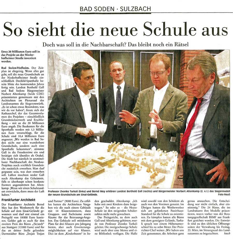 Artikel im Höchster Kreisblatt zur Grundschule Bad Soden